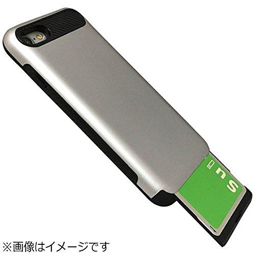 Slot-in スロットイン ケース Suica Pasmo manaca Toica Icocaなど 非接触ICカード対応 カード収納 スマホケース スリム カードが見えない 特殊塗装で 手に馴染む 耐衝撃ケース iPhone 7/8 ゴールド