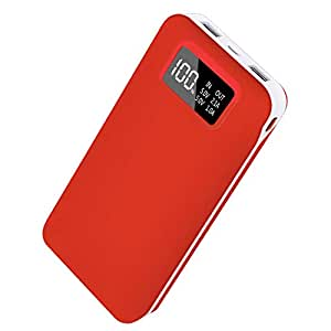 CXLiy モバイルバッテリー 大容量 24000 軽量 携帯充電器 2つ出力/2つ入力 急速充電 LCD残量表示 Android/iphone各種対応 地震/旅行/災害/出張などに対応 USBケーブル付く