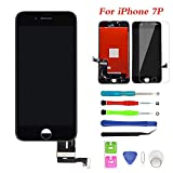 """for iPhone 7 Plus Screen Replacement Touch Screen Digitizer & LCD Display for iPhone 7 Plus (5.5"""") Black Frame with Repair Tools (iPhone 7 Plus, Black)"""