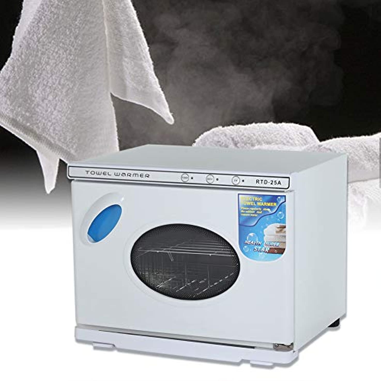 うるさい未来ベストタオル消毒キャビネット、衣類スパおよびサロン機器用25Lプロフェッショナル温暖化滅菌UV滅菌器(白)