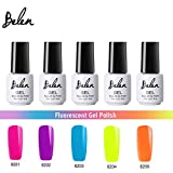 Belen ジェルネイル カラージェル 蛍光色カラージェル 5色 セット 7ml