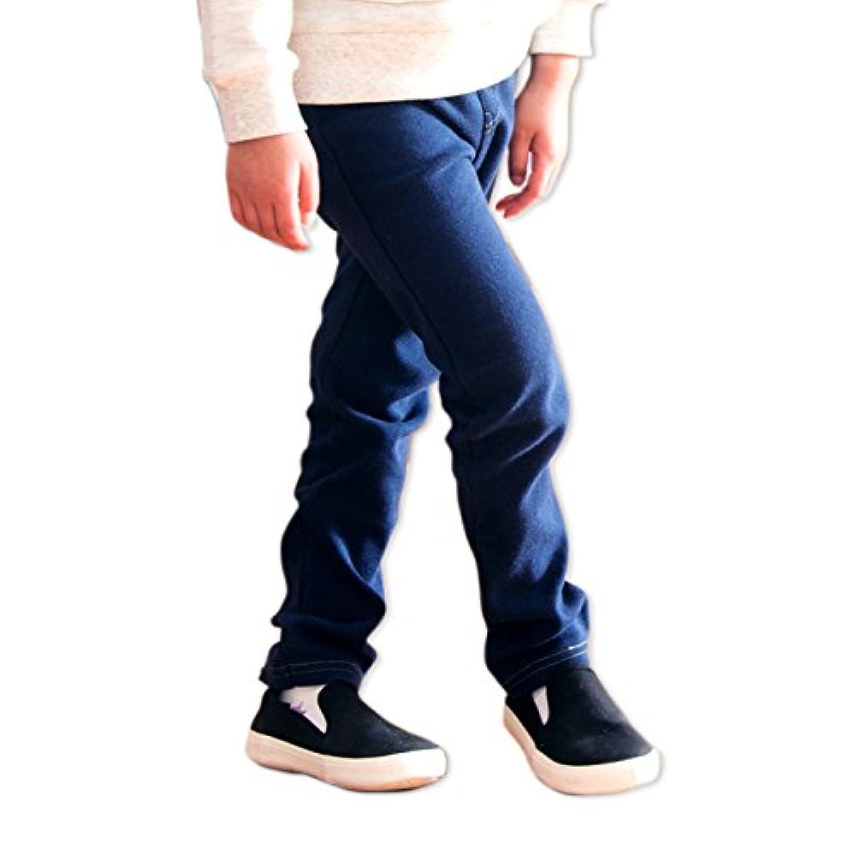 キッズ パンツ ズボン ベビー 子供服 ストレッチ ニット カラバリ ポケット お名前ネーム付 男の子 女の子 ボトムス ネイビー 95cm 65480409NV95