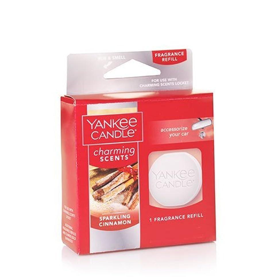 タイトルスピン器具Yankee Candle SparklingシナモンCharming Scents Fragrance Refill, Festive香り