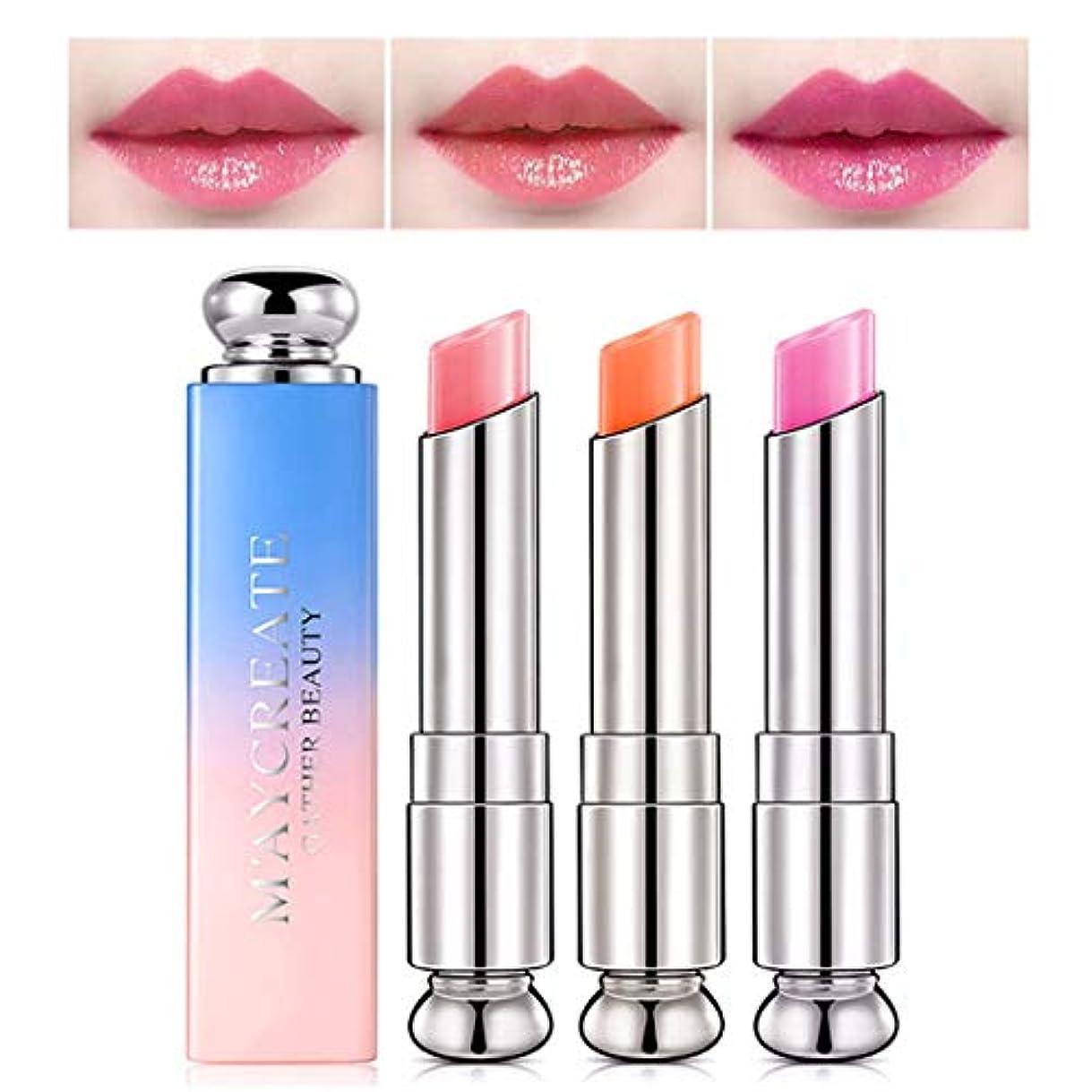 欠伸帰するバラ色1ピース色変化温度口紅、長続きがする保湿唇ケア変色口紅リップペンシルリップグロス (2)