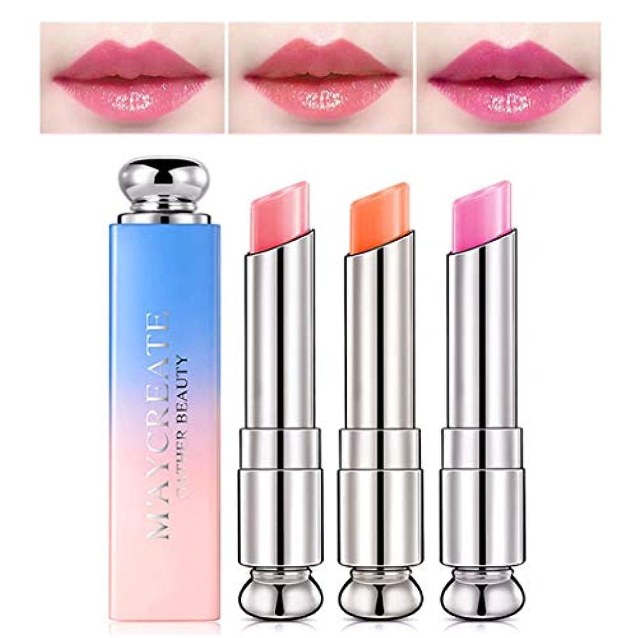 フィールドバースも1ピース色変化温度口紅、長続きがする保湿唇ケア変色口紅リップペンシルリップグロス (2)