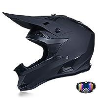X.N.S(希望)新出荷 四季通用 バージョンアップ バイクヘルメット オフロード ヘルメット (L, ブラック(艶消し))