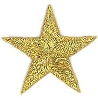 ミノダ シンプル星型アイロンワッペン 大サイズ ゴールド