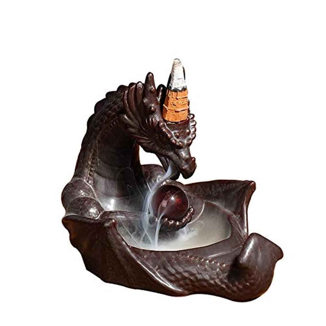 正当化する話すおしゃれじゃないセラミックアートクラフトドラゴン煙逆流香バーナーホルダー