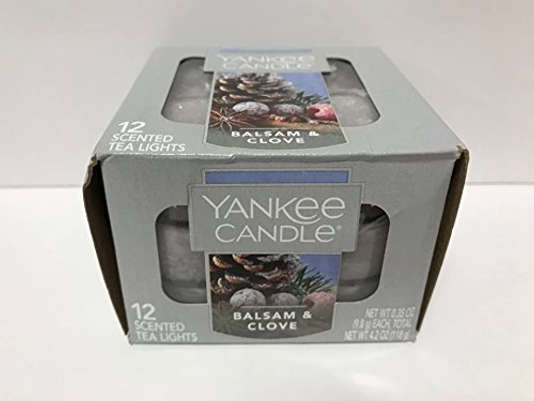 煙突有効化評価Yankee Candle Balsam &クローブティーライトキャンドル