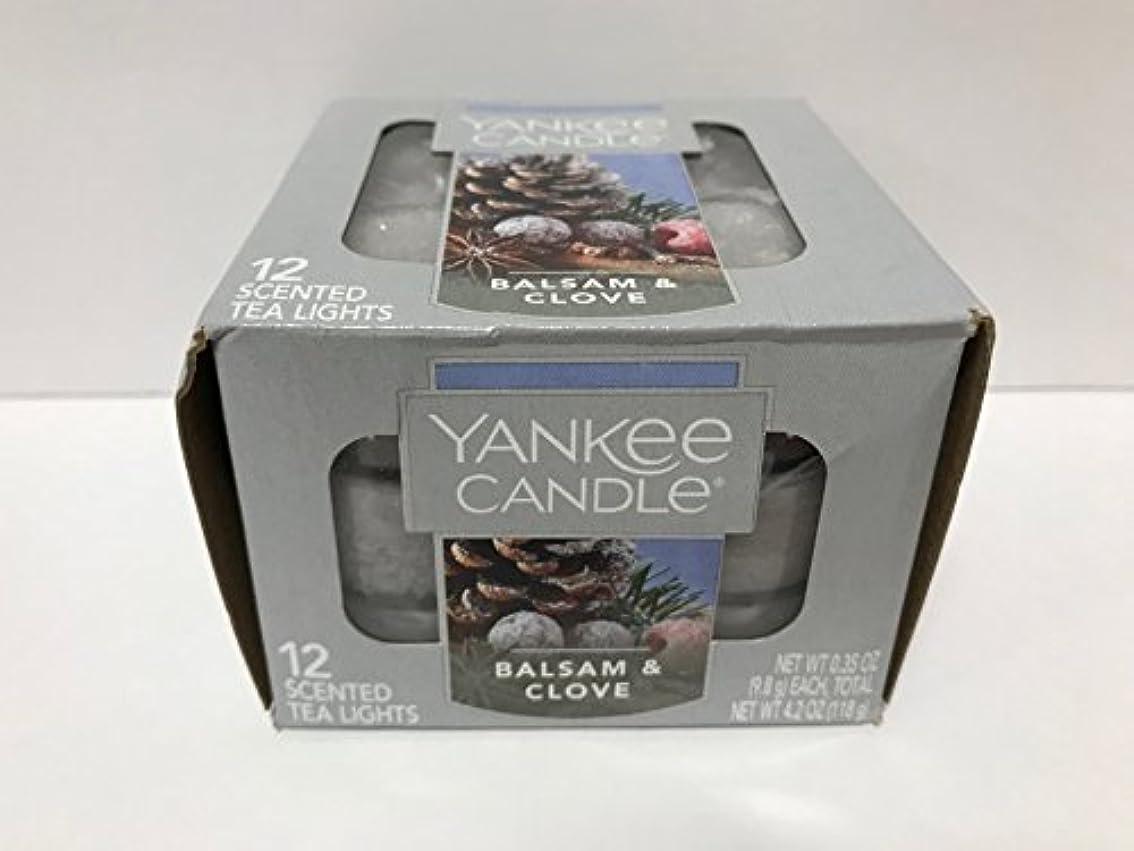 鉛筆創始者調査Yankee Candle Balsam &クローブティーライトキャンドル