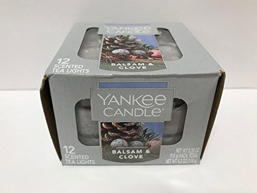 集める普遍的な初期のYankee Candle Balsam &クローブティーライトキャンドル