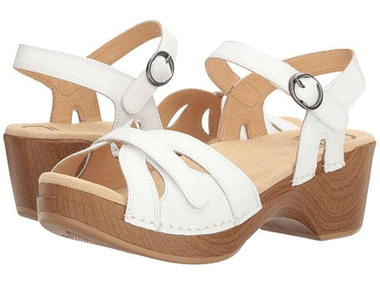 (ダンスコ) Dansko レディースサンダル?靴 Season White Full Grain US Women's 9.5-10 25-25.5cm Regular [並行輸入品]