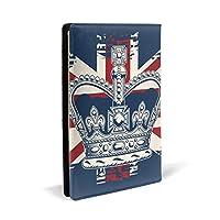 クラウン英国旗1 PUレザー ブックカバー A5サイズ 文庫本サイズ ブックカバー 新書サイズ 選べるイニシャル ブックカバー