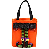 ハロウィン不織バンドルトートバッグキャンディーバッグオレンジ1パック おもちゃ雑貨用品 お祭り 宴会 文化祭 オレンジ