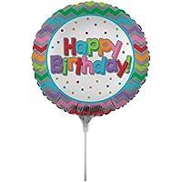 Creative Converting air-filled誕生日バルーンChevron With Stick Andジョイナ、18インチ、マルチカラー