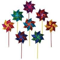 In the Breeze Mylar Pinwheel Spinner (8 PC assortment) おもちゃ [並行輸入品]