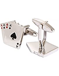 Gentleman 's Poker Cards Shaped Cufflinks High Polished