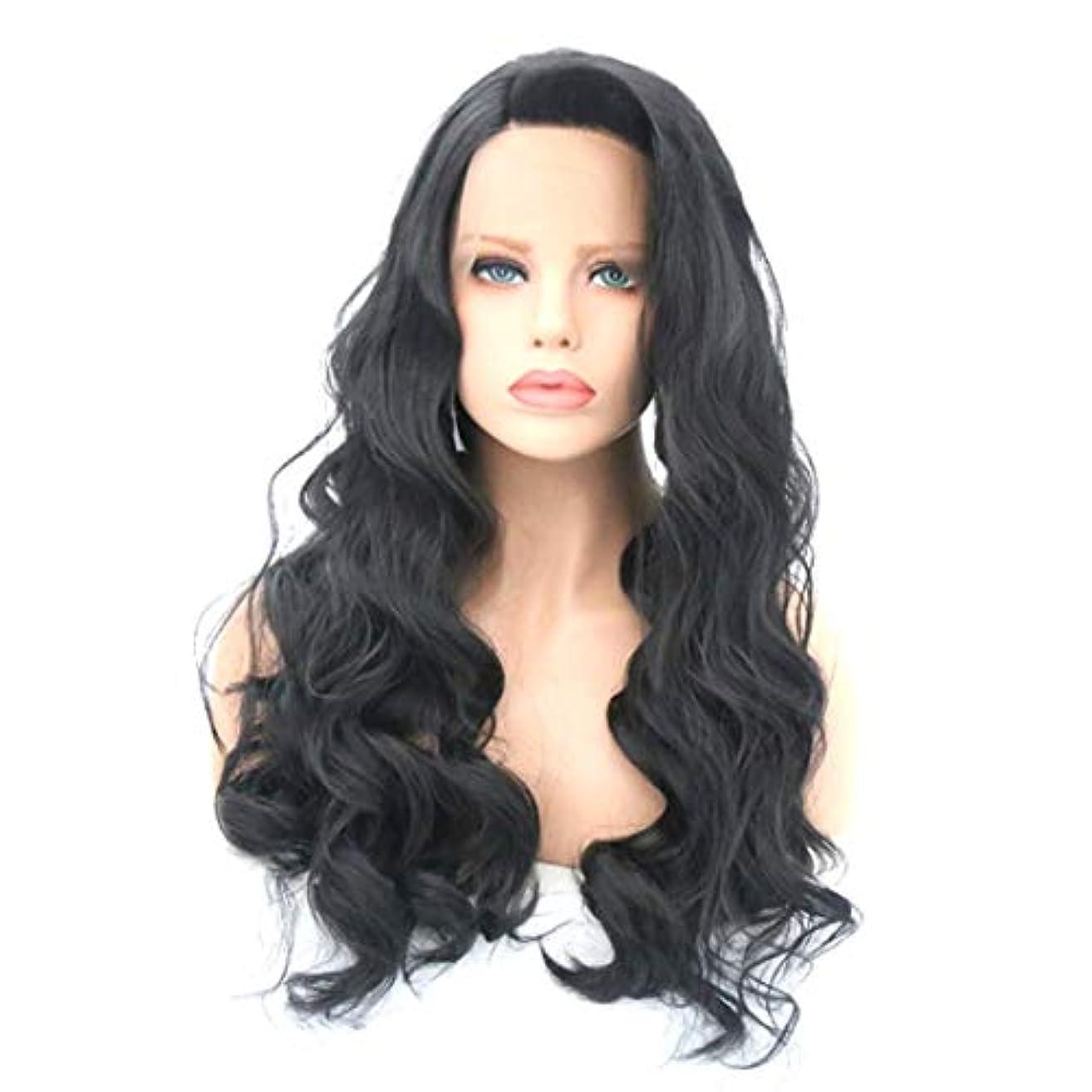 織機ムスありがたいKerwinner かつら女性のための大きな波状の巻き毛の耐熱性長い巻き毛のかつら (Size : 20 inches)