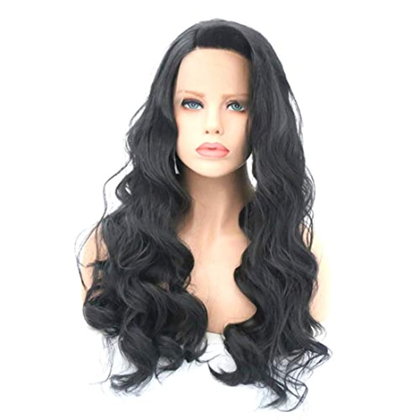 コンバーチブル結果としてラボKerwinner かつら女性のための大きな波状の巻き毛の耐熱性長い巻き毛のかつら (Size : 18 inches)