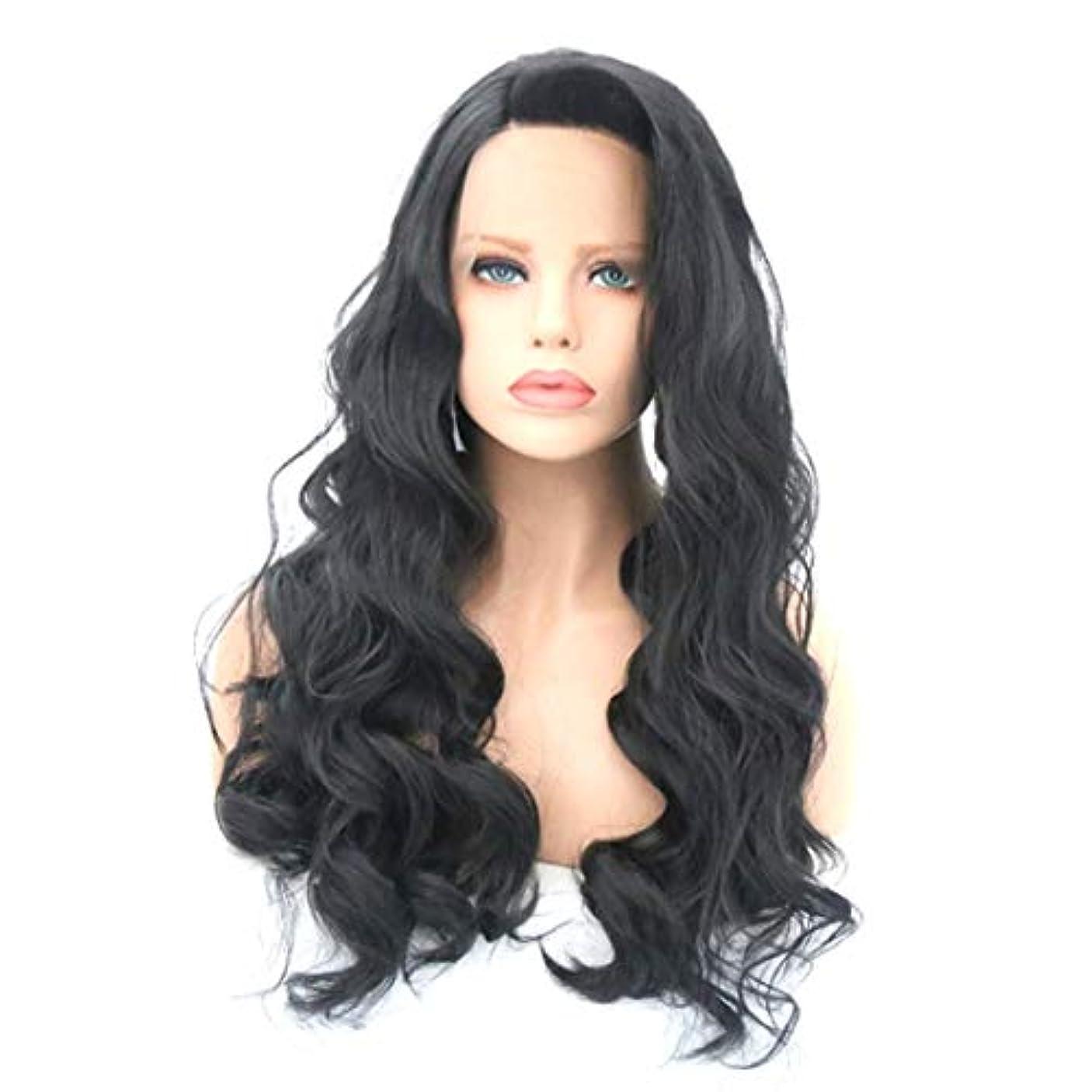 妥協藤色グリットKerwinner かつら女性のための大きな波状の巻き毛の耐熱性長い巻き毛のかつら (Size : 16 inches)
