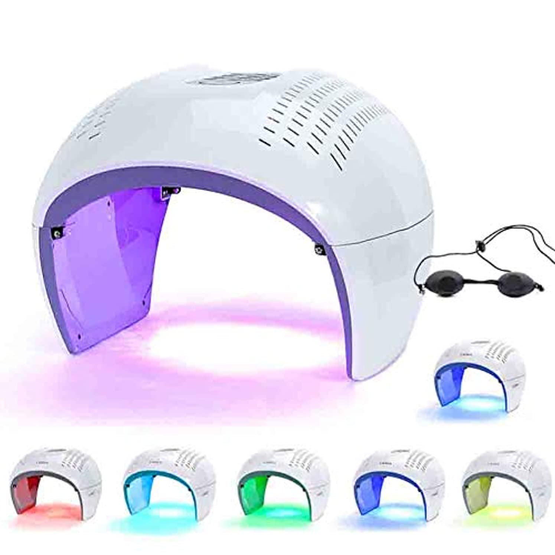 警告する近所の貼り直す7色のLEDライトセラピーは、にきび治療しわ除去アンチエイジング肌の若返りフェイシャルケア美容機をマスク