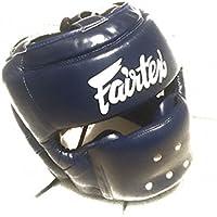 Fairtex新しいフル面Headgear – Wideビジョンfor Better対角ビュー – マイクロファイバー素材 – hg14 – ブルー