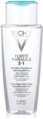 Vichy Purete Thermale 3-in-1 One Step Cleansing Micellar Water, 200ml