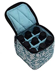 Pursue エッセンシャルオイル収納ケース アロマオイル収納ボックス アロマポーチ収納ケース 耐震 携帯便利 香水収納ポーチ 化粧ポーチ 9本用