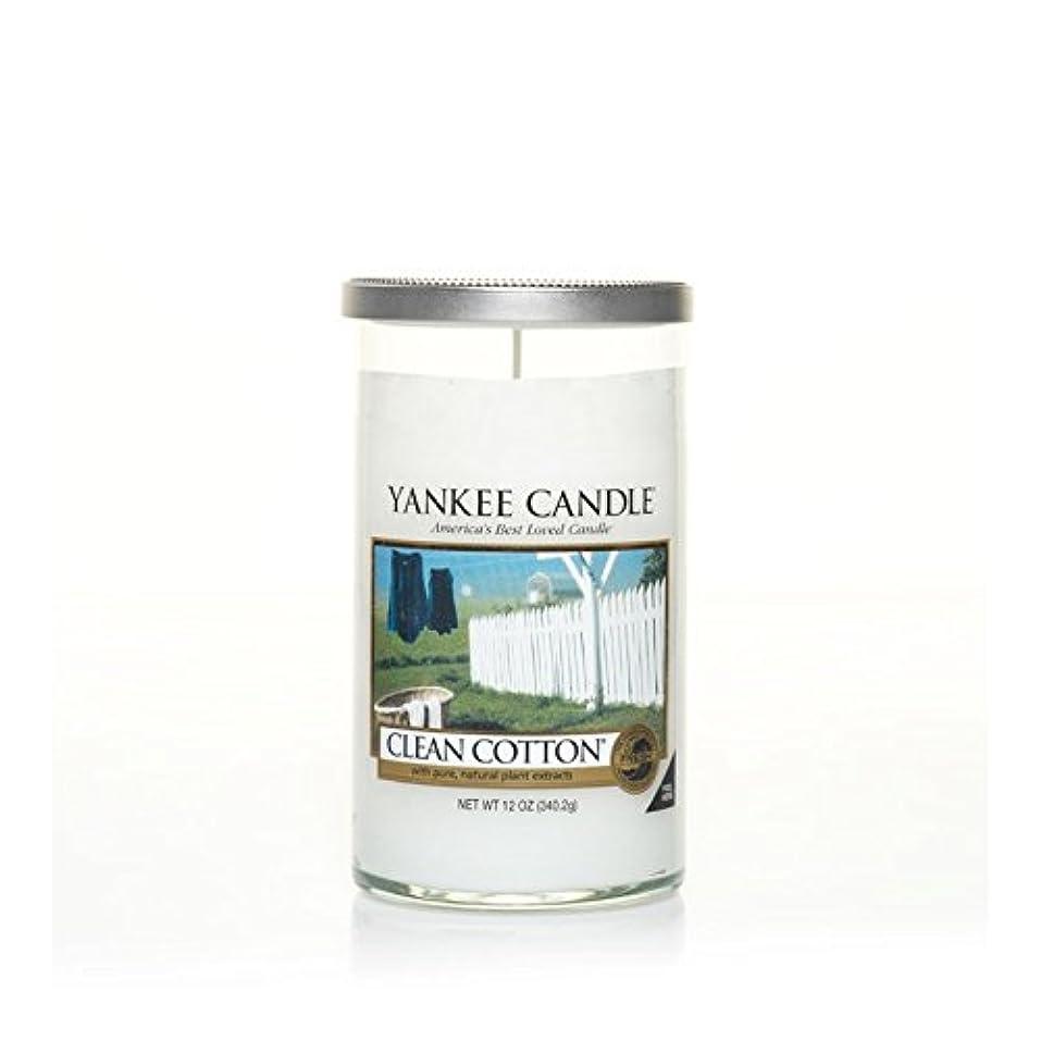 ヒント祖父母を訪問見出しYankee Candles Medium Pillar Candle - Clean Cotton (Pack of 2) - ヤンキーキャンドルメディアピラーキャンドル - きれいな綿 (x2) [並行輸入品]