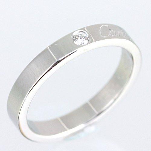 カルティエ Cartier エングレーブド リング 指輪 11号 プラチナ ダイヤモンド 結婚 ウエディング 中古