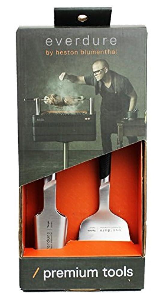 年金受給者オーバーラン人工的なエバデュア トング ターナー セット バーベキュー キッチン用品 BBQ ツール アウトドア用品 クッキング キャンプ レジャー 調理器具 everdure