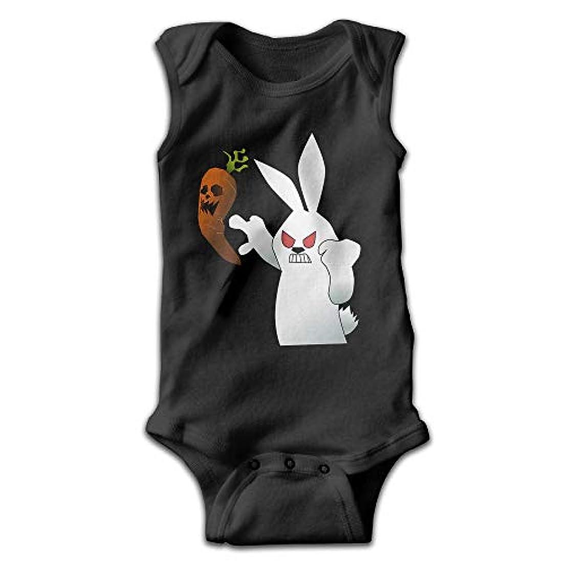 スペードお世話になった収縮ベビーワンシーガールボーイ衣装ベビージャンプスーツクリーパーノースリーブハロウィンニンジンと怒っているウサギ