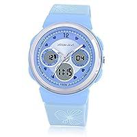 子Watch Movement多機能二重表示LED防水Girlsデジタルwatch-b