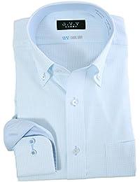 a.v.v HOMME クールビズ クールドライ メンズ 長袖 ボタンダウン ワイシャツ 形態安定 吸水速乾