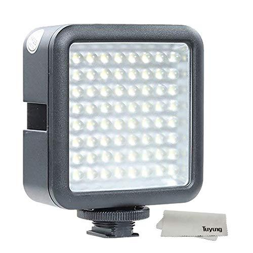 撮影機材 照明 LED 64 ビデオライト 補助照明 撮影用ライト 輝度 調整可能 単三電池 4本 複数台増設可能 動画 撮影 Nikon Canon用