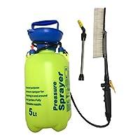 SM SunniMix 毛ブラシ 携帯用圧力洗浄機 調整式スプレーノズル 5L プラスチック 全2カラー - 緑