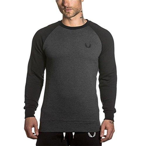 [해외]MANATSULIFE 남성 스웨터 셔츠 U 넥 긴팔 트 레너 액티브웨어 니트/MANATSULIFE Men`s sweatshirt U-neck long sleeve trainer active wear cut