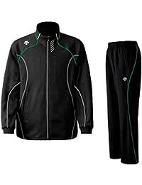 DESCENTE(デサント) メンズ トレーニング ジャケット?パンツ上下セット ブラック×グリーン DTM1910B-DTM1910PB-BLG