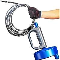 回転式10m パイプ クリーナー ワイヤー 詰まり取り お風呂 トイレ 洗面所 排水口 下水 修理 解消 (10m)