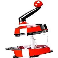 Fenteer プラスチック製 食べ物チョッパー スライサー カッター 調理器具 肉挽き器 ニンニク プレス 耐摩耗性 耐錆性 赤