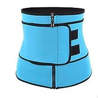 スポーツ用品 ウエストトレーニングベルト スウェットベルトウエストウエストウエストウエスト、脂肪燃焼腹スリムベルトを提供します。女性用 スポーツアクセサリー (色 : 青, サイズ : M)