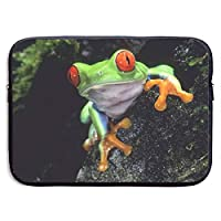 Cute Tree Frog 13-15 Inch Laptop Sleeve Bag - Tablet Clutch Carrying Case,Water Resistant, Black-15 Inch