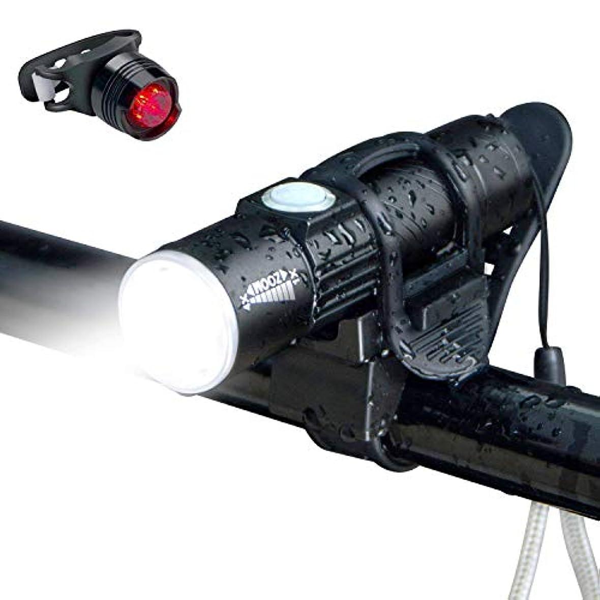 右アブストラクトお互い自転車ライト led 懐中電灯 自転車用ライト 自転車 ヘッドライト 防水 USB 充電式 フラッシュライト 自転車アクセサリー 自転車フロントライト 自転車 LED 照明 テールライト 自転車前照灯 コンパクト 軽量