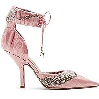 (パチョッティバイミッドナイト) Paciotti by Midnight レディース シューズ・靴 パンプス Crystal-embellished ankle-tie satin pumps [並行輸入品]
