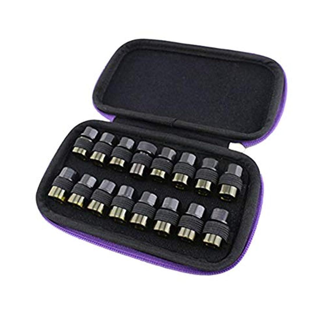 Pursue エッセンシャルオイル収納ケース アロマオイル収納ボックス アロマポーチ収納ケース 耐震 携帯便利 香水収納ポーチ 化粧ポーチ 16本用