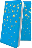 AQUOS R2 compact/SH-M09 ケース 手帳型 流れ星 水色 星 星柄 星空 宇宙 夜空 星型 アクオスアール コンパクト アクオスアール2 アクオスコンパクト 手帳型ケース おしゃれ aquosr2 shm09 aquosr2compact かっこいい