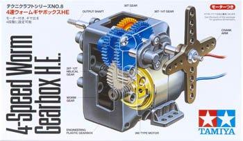 テクニクラフトシリーズ No.8 4速ウォームギヤボックスHE 72008