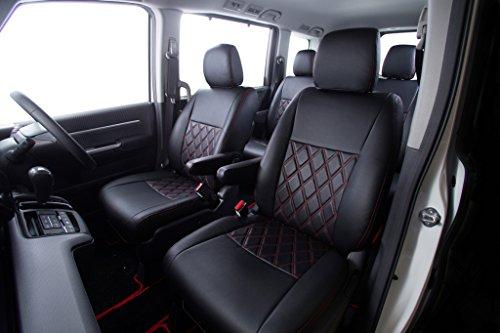 クラッツィオ シートカバー プロボックス/サクシード 160系 Clazzio ダイヤ ブラック×レッドステッチ ET-0142