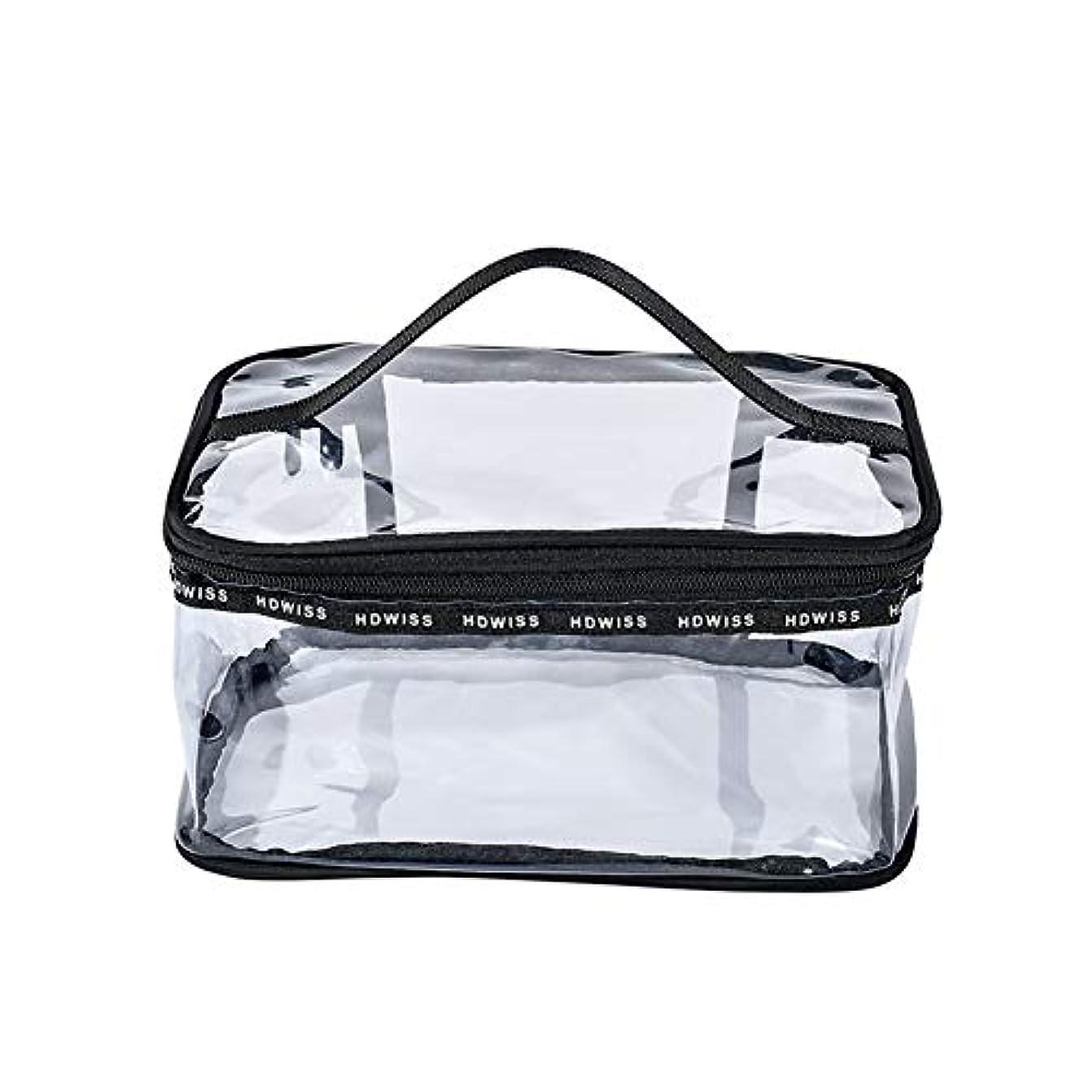 求人時計回りサッカー旅行透明化粧品袋防水大容量ウォッシュバッグジッパークラッチバッグポータブル男性と女性の缶,Large