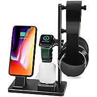 Msova  Apple Watch収納スタンド 6 in 1収納ホルダー Watch/iphone/イヤホン収納 iphone充電スタンド デスクトップスタンド iphone/iPad mini/iWatch/AirPods対応 収納充電ホルダー チャージャードック 多機能 アルミ合金製